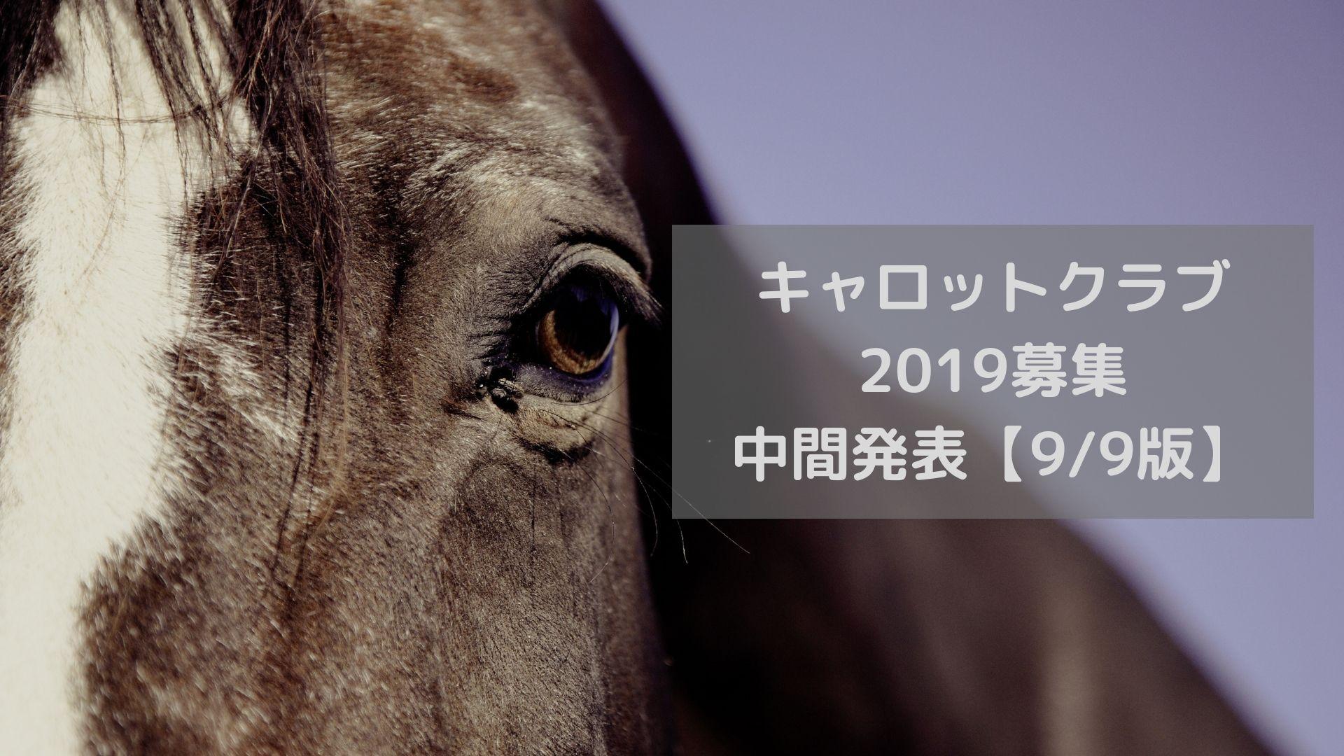 キャロットクラブ2019 中間発表【9_9版】